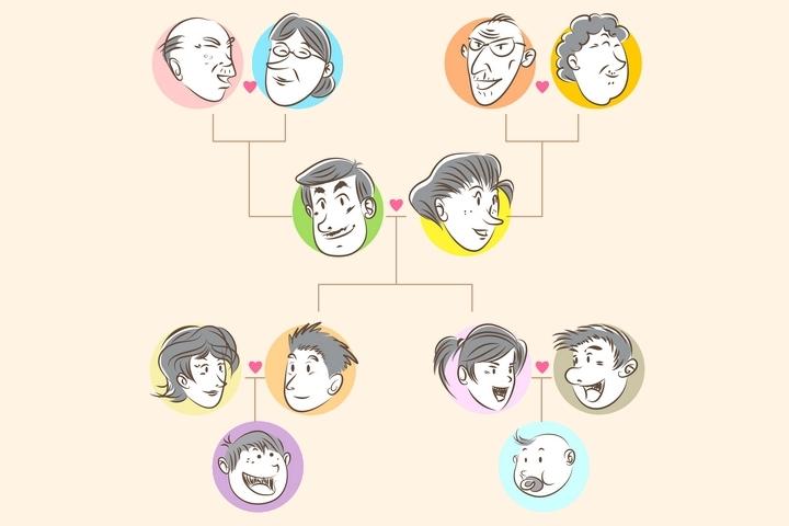 Family Tree Cartoon 201805-001