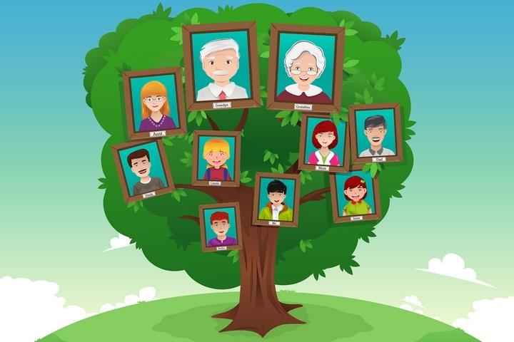 Family Tree Cartoon 201812-002
